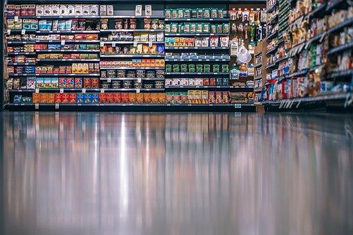 通路, 背景, 購入, クリーン, 食品, 食料品, 食料品店, ライフスタイル