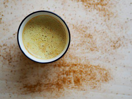 Drink, Coffee, Cup, Turmeric Latte