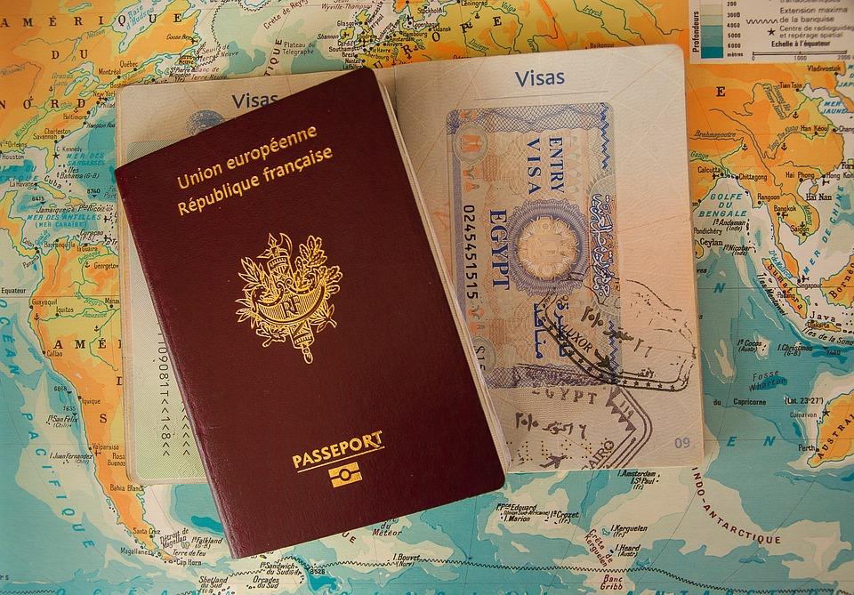 パスポート, ビザ, 罫線, バッファー, 税関