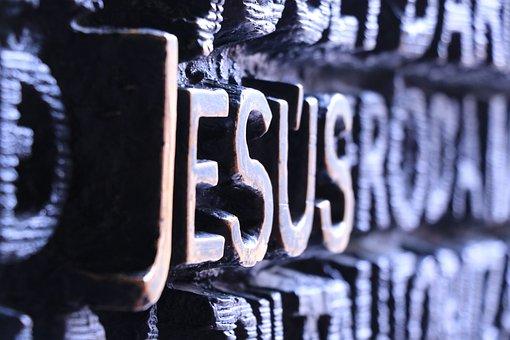Jesus, Font, Letters, Word, Faith