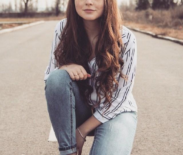 Girl Road Long Hair