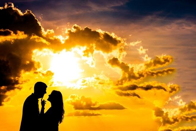 Sunset, Sol, Dawn, Nature, Sky, Casal