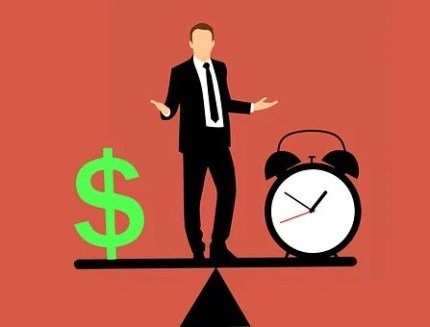 Business Man, Balancing, Time And Money