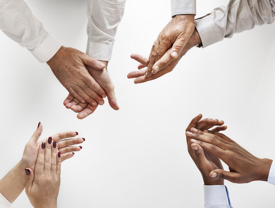 手, 人間, パートナーシップ, チームワーク, 協力, 達成, アフリカ, アフリカ系アメリカ人