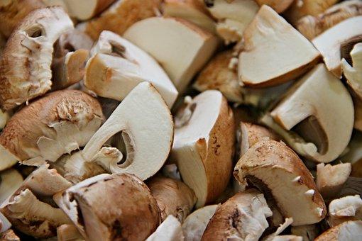 キノコ, カット, 個, 茶色, 栽培キノコ, 成分, キノコのフライパン