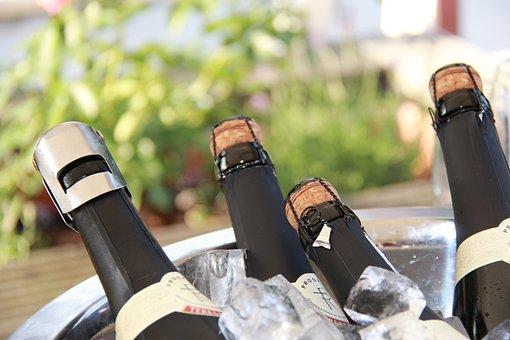 ボトル, ワイン, ドリンク, シャンパン, アルコール, 喜び, お祝い