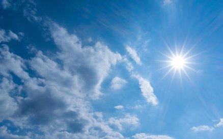 ネイチャー, 夏, 太陽, 天気予報, ふわふわ, 空, 雲, ブルー