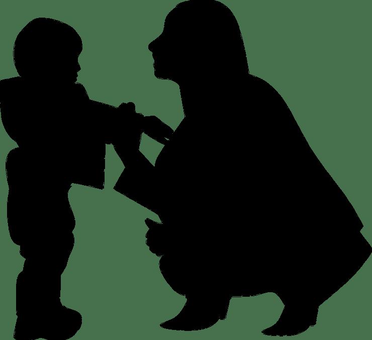 シルエット, 母の日, 女性, 母親と赤ちゃん, お母さん, 母と子, 母と息子, 母と娘, 家族, 秋
