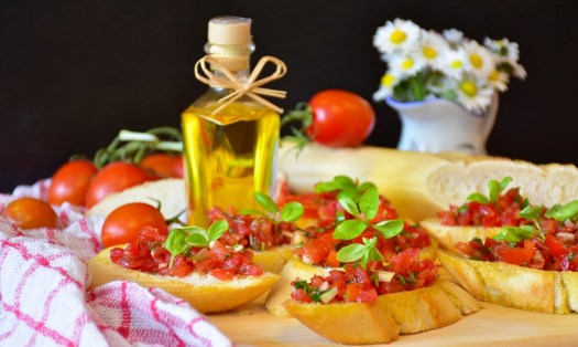 Bruschetta, Pane, Baguette, Pomodori, Basilico, Cipolla