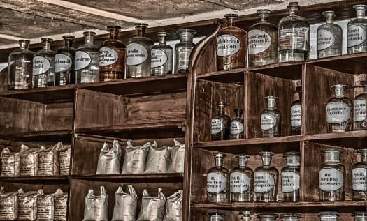 Farmacia, Antiquariato, Vecchio, Prodotti Chimici