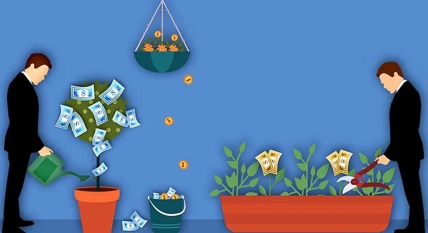 Best stocks- men watering cash plants