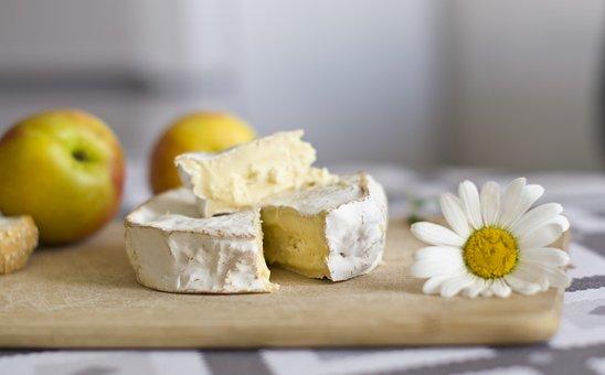 チーズ, カマンベール, 栄養, 新鮮な, キッチン, 前菜, スライス