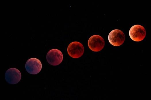 Luna Di Sangue, Luna, Notte, Luna Piena, Moonlight