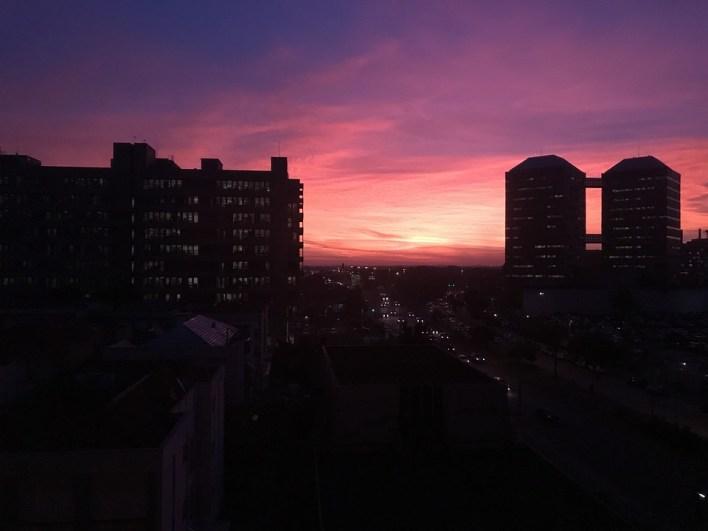 Porto Alegre, Por Do Sol, Centro, Silhueta, Céu