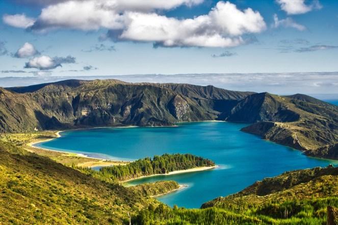 Natureza, Paisagem, Lagoa Do Fogo, Vulcão, Cratera