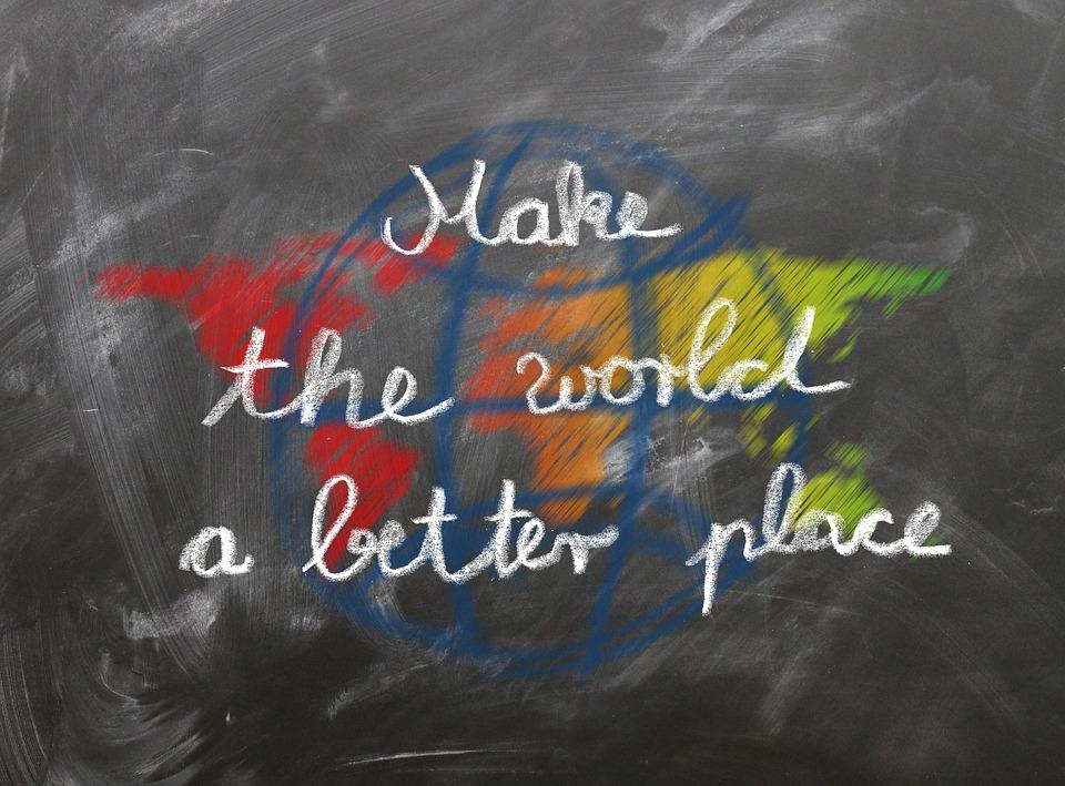 Escuela, Tablero, Mundo, Mejor, Lugar, Diciendo