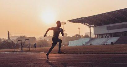 Athlete, Sports, Stadium, Running, Track