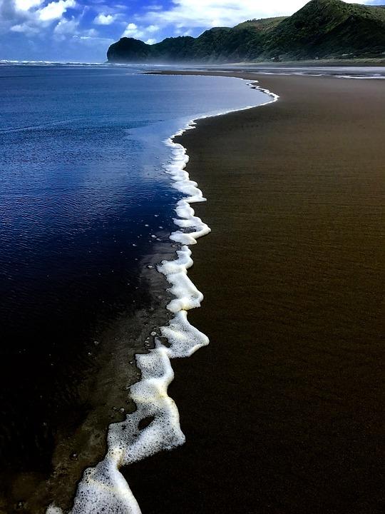 New Zealand, Piha Beach, Beach, North Island, Auckland