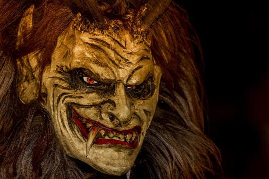 Krampus, Mask, Customs, Austria, Advent, Devil, Angry