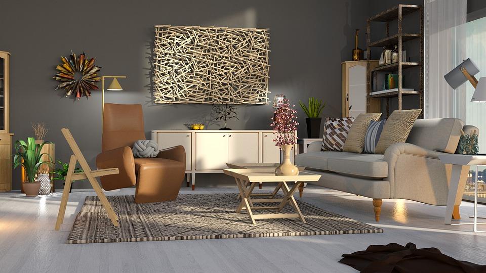Living-Room, Chair, Beige, Furniture, Sofa