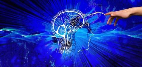 理解, スパーク, ライトニング, 手, 考える, インスピレーション, セル, 心理学, 宗教, 脳, 神様