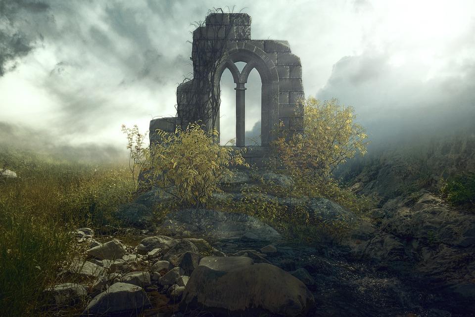Fantasy, Landscape, Fantasy Landscape, Nature, Ruins, conspiracy
