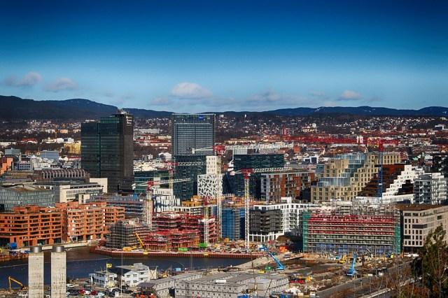 Ciudad, Punto De Vista, Oslo, Noruega