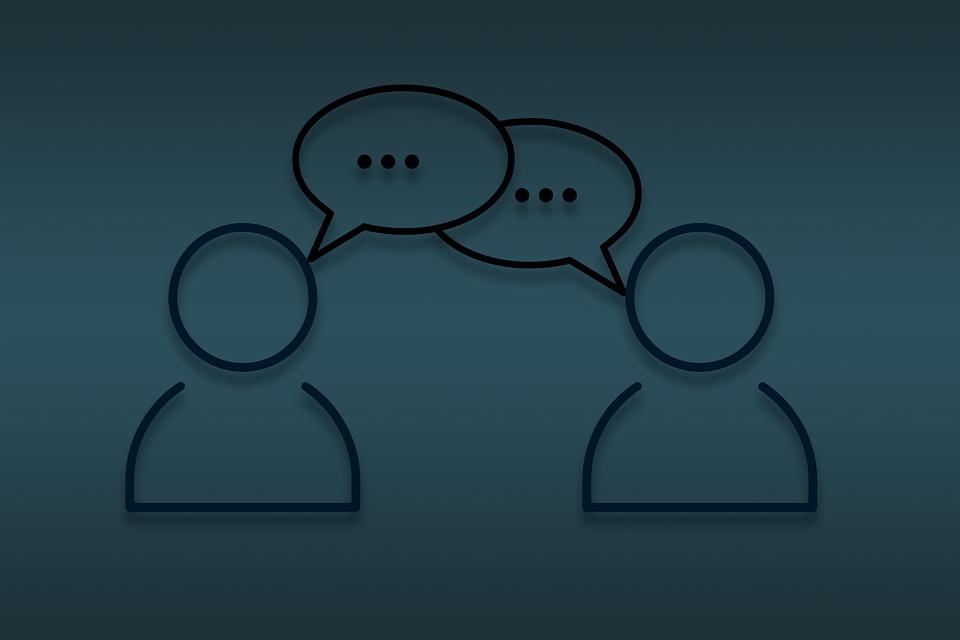 チャット, 会話, 通信, 話, ディスカッション, 音声, お問い合わせ, 一緒に, フィードバック