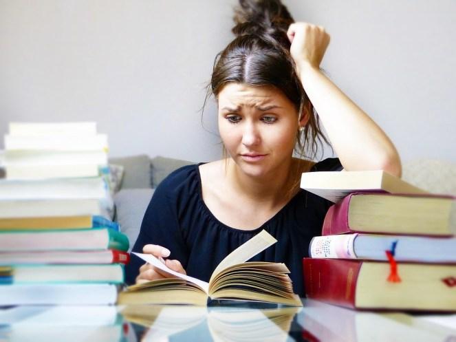 Livros, Mulher, Menina, Estudo, Aprenda, Stress