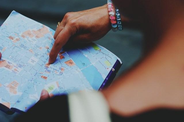 Mapa, Turismo, Perdeu, Direção, Guia, Guia Turístico