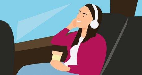 Bus, Passenger, Traveling, Woman, Trip
