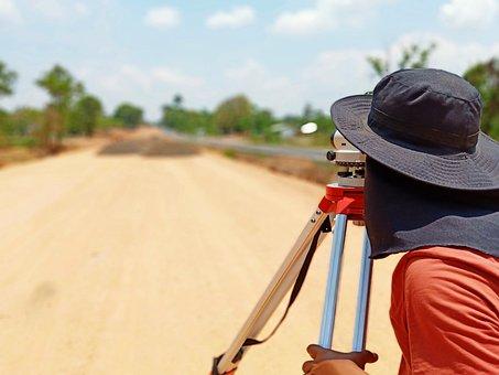 Construction, Surveyor, Road, Surveying