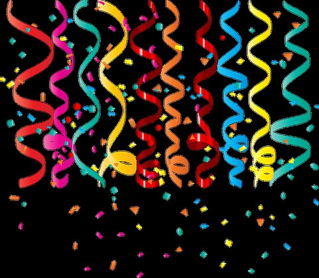 Confetti Curling Ribbon Birthday Free Vector Graphic On