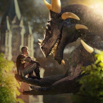 Fantasy, Dragon, Fairytale, Mythology