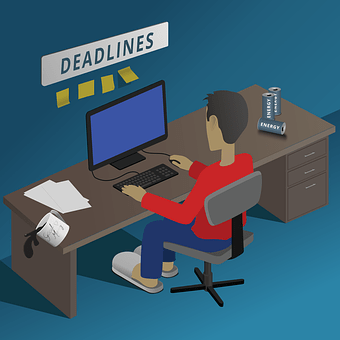 オフィス, 作業, 夜遅くまで働く, コンピュータ, ビジネス, デスク, 技術