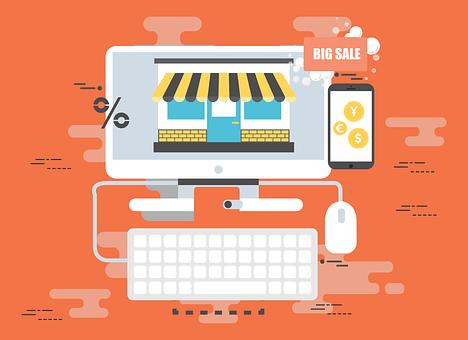 オンライン, ショッピング, E コマース, ビジネス, お支払い