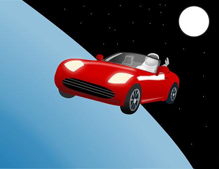 車, ロードスター, スペース, テスラ, Elonマスク, 軌道