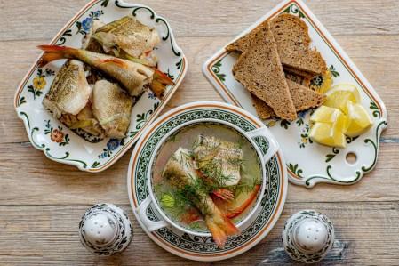 スープ, 食品, 魚, レモン, 健康的です, 栄養, あります, 野菜, 魚介類, ランチ, キッチン