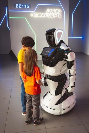 Robô, Crianças, Rússia, Interativo, Robótica