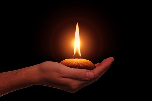 Hand, Candle, Diwali, Festival Of Lights