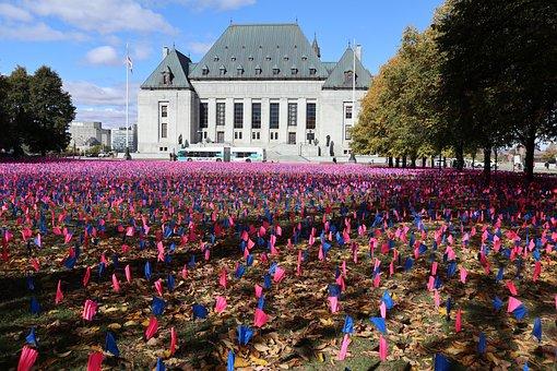 Pro-Life Flags, Ottawa Ontario