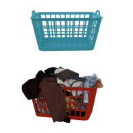 Clothes, Baskets, Laundry, Wash, Housework, Dirty, Home