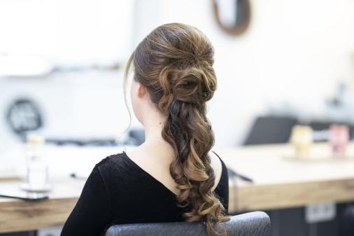 美容師, 保守, 髪, サロン, ファッション, 美容, 女, 美しい, 肖像画, 人, 女の子, スタイル
