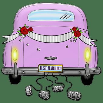 Cartoon Auto Hintergrund Material Cartoon Auto Hochzeit Mit Auto