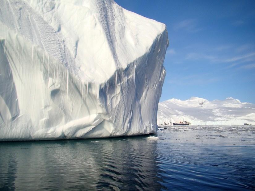 Antartide, Nave, Iceberg, Ghiaccio, Mare, Panorama