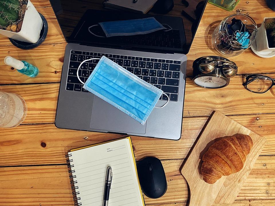 Lavoro, Da, Computer, Ufficio, Portatile, Tastiera