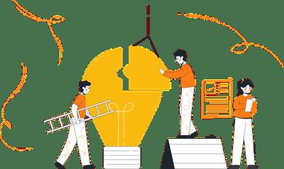 チームワーク, 独創的アイデア, チーム, ビジネス, 技術革新, アイデア