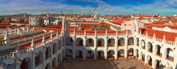 Bolivie, Surce, Casa, Gebeude, Voyage