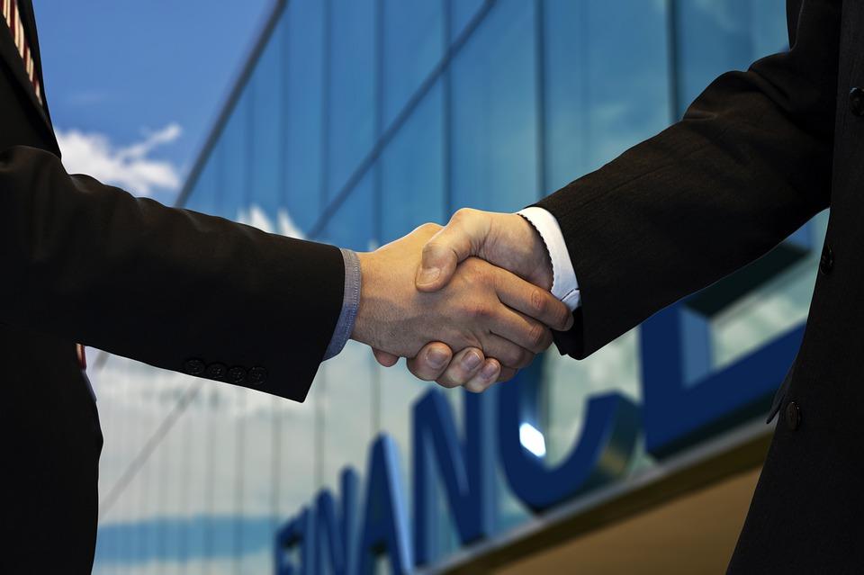 Apretón De Manos, Empresa, Oficina, Mundo Financiero
