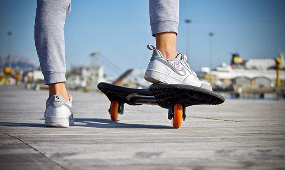 Skateboard, Feet, Shoes, Guy, Skating